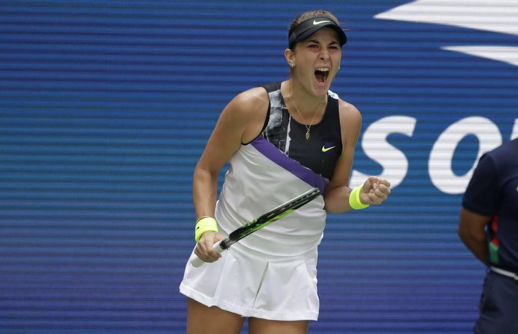 Belinda Bencic freut sich: Sie steht erstmals in den Halbfinals eines Grand-Slam-Turniers! (© Keystone)