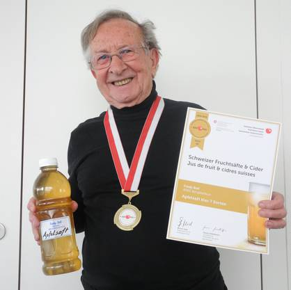 Fredy Bolls Apfelsäfte sind in der Region bekannt. Endlich gibts für ihn die Goldmedaille.