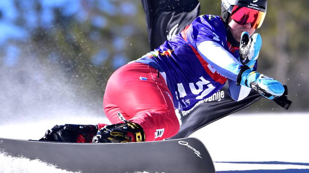 Nevin Galmarini bewegt sich auf dem Snowboard wieder mit viel Gefühl