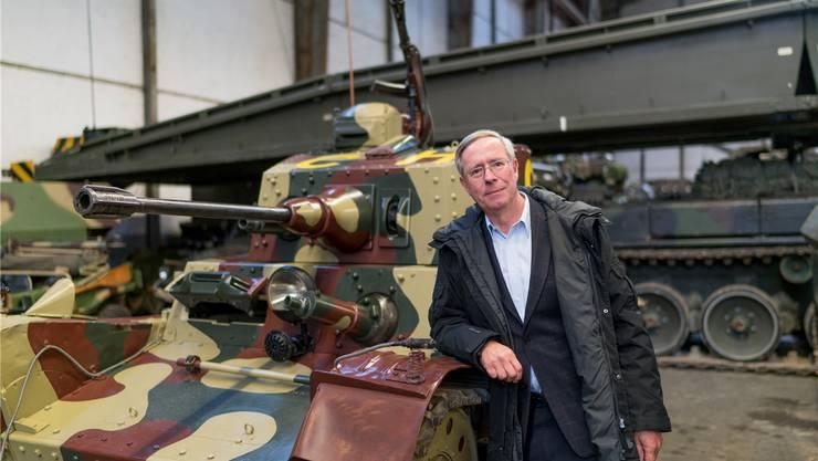 «Diesen Panzer habe ich in den 80er-Jahren gekauft», sagt Thomas Hug über den Praga im Museum. Mario Heller