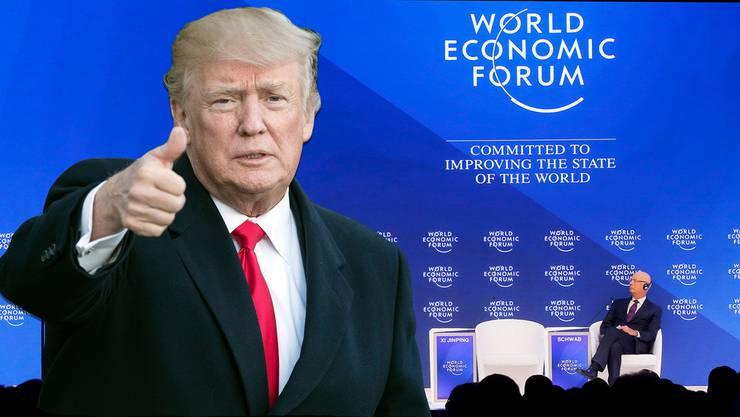 Donald Trump kommt ans WEF. Weitere prominente Teilnehmer finden Sie in der Bildergalerie.
