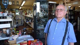 Der 80-jährige Kurt Huber führt in Sins ein Brockenhaus und hat in Aettenschwil, Alikon und Auw weitere Lagerräume mit Waren aller Art gefüllt.