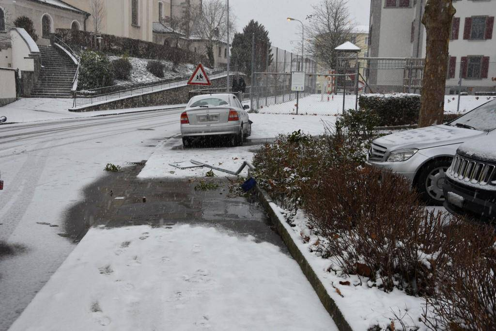 Autounfälle bei Schneefall