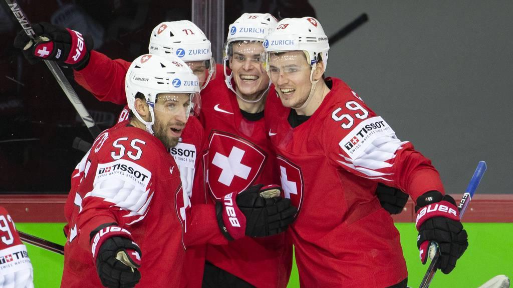 Die Schweiz siegt gegen die Slowakei mit 8:1