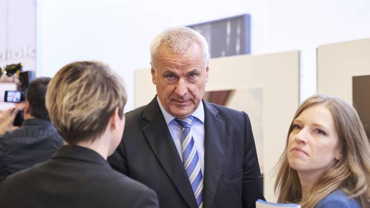 Verwaltungsratspräsident Peter Suter an der Medienkonferenz zum «Siegerprojekt KSA Neubau».