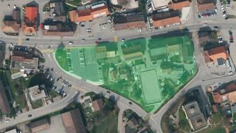 Um das Bauen auf dem markierten Dreieck geht es, bei der Planung wird das Umfeld mitberücksichtigt. (Planungsperimeter)