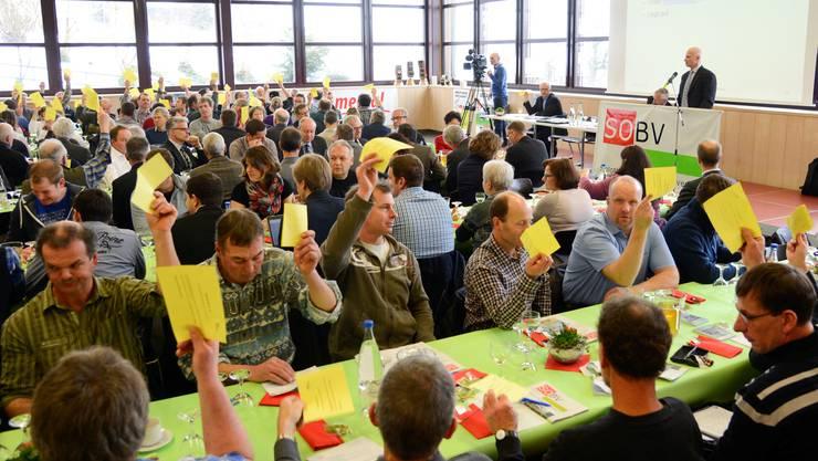 Versammlung des Bauernverbandes Kanton Solothurn