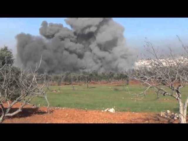 Das Spital in Idlib, nachdem es angeblich von russischen Kampfjets beschossen worden ist.