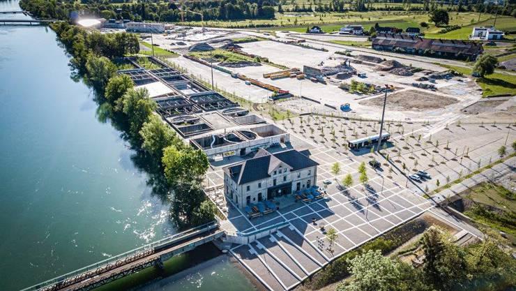 Der Uferpark Attisholz in Luterbach