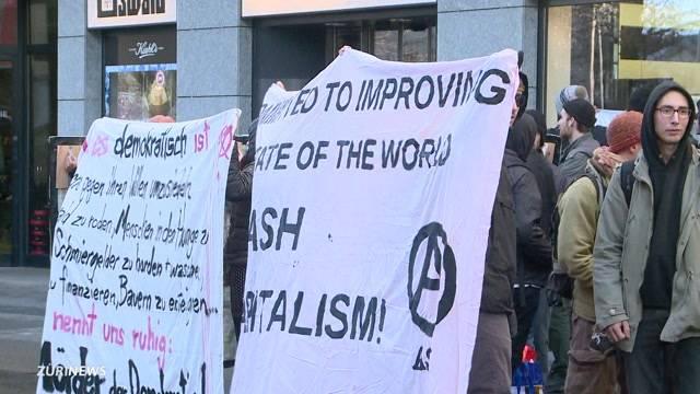 Anti-WEF-Demo in Zug