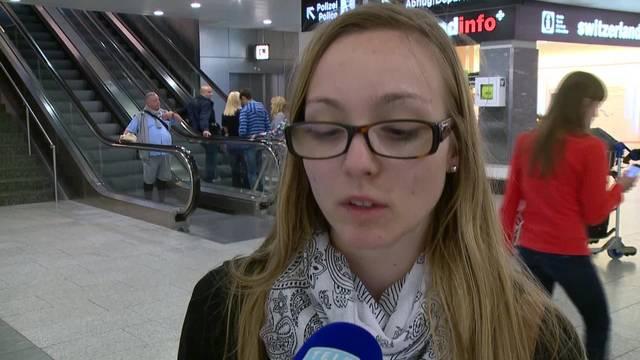Chantale Müller am Flughafen Zürich: Sie war an der Promenade in Nizza, als der Lastwagen in die Menschenmenge fuhr.