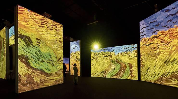 Das Weizenfeld von Vincent van Gogh. Jeder Pinselstrich wird zum gewaltigen Hieb.