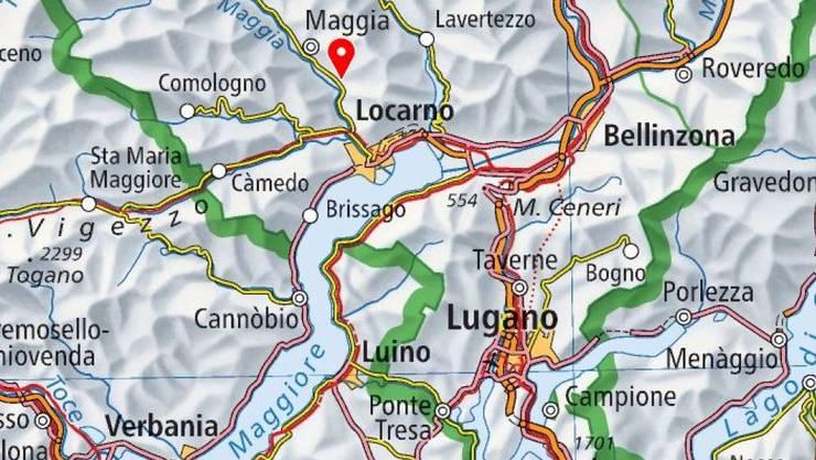 Der tödliche Freizeitunfall ereignete sich bei Gordevio im Tessiner Maggiatal.