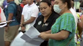 Eine grossangelegte Impfaktion nach einem Masernausbruch hat das öffentliche Leben in Samoa vorübergehend lahmgelegt. (TVNZ via AP)