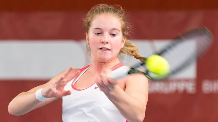Die Aarauerin Dominique Meyer ist aus Aargauer Sicht die vielversprechendste Athletin in der Juniorinnen-Konkurrenz der Swiss Junior Trophy.