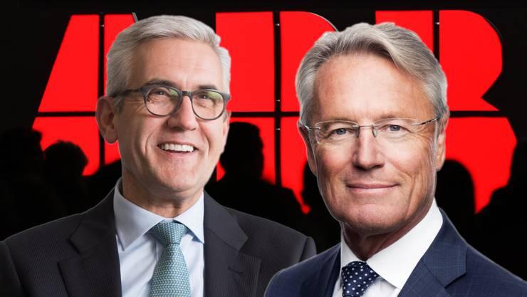 Der neue CEO von ABB, Björn Rosengren (r.), verdient deutlich weniger als sein Vorgänger Ulrich Spiesshofer.