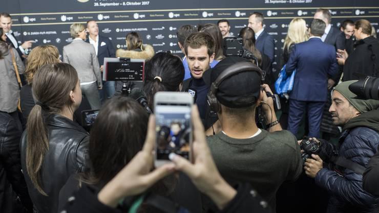 Andrew Garfield, hier als Stargast am Zurich Film Festival 2017, ist kein Fan des grossen Rummels um seine Person.