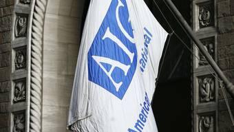 Büro-Eingang des US-Versicherers AIG in New York
