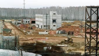 Der Verwaltungsbau des Lagers für spaltbares Material in Majak.