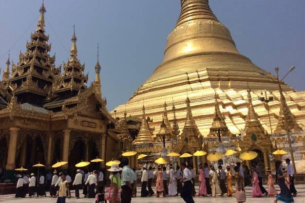 Aufzeichnungen buddhistischer Mönche bezeugen, dass die Pagode bereits vor dem Tod des historischen Buddha Siddhartha Gautama im Jahre 486 v. Chr. erbaut wurde