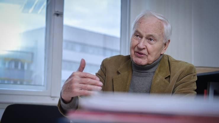 Immer noch politisch aktiv: Hans Modrow, 91, während eines Interviews.