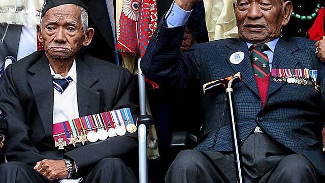 Alte nepalesische Soldaten (Archiv)