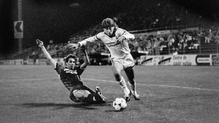 Mirsad Baljic auf dem Weg zum 1:0 für Sion.