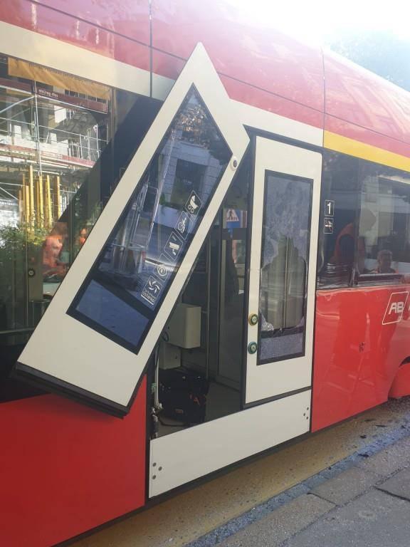 Beschädigte Appenzeller Bahn (© FM1Today/Celia Rogg)