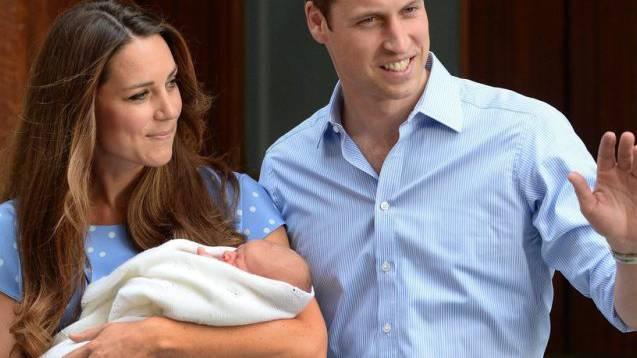 Prinz William und Kate mit Baby George (Archiv)