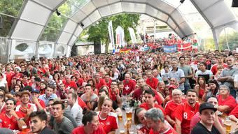 Das Public Viewing in der Schützi mit Domüberdachung währen der letzten WM 2018.