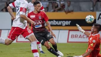 Mickael Almeida traf zum ersten Mal für den FCA. Es war für die Aarauer auch das erste Tor der Saison im zweiten Saisonspiel.