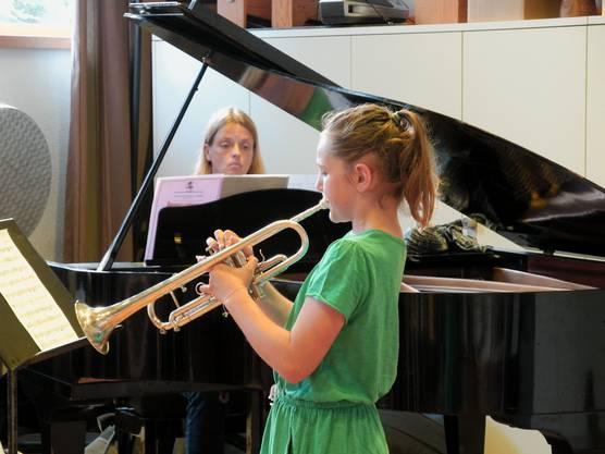 «Es macht mir einfach Spass, Trompete zu spielen. Ich übe jeden Tag etwa eine Viertelstunde.»
