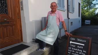 Ignazio Balzano ist ein leidenschaftlicher Koch. Nun verwöhnt er seine Kunden mit Gerichten aus der eigenen Küche. fam