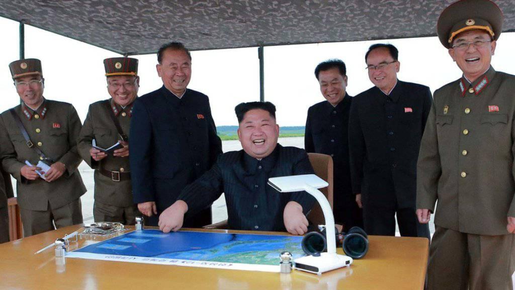 Droht erneut mit einem Atomwaffenangriff: Nordkoreas Machthaber Kim Jong Un. (Archivbild)