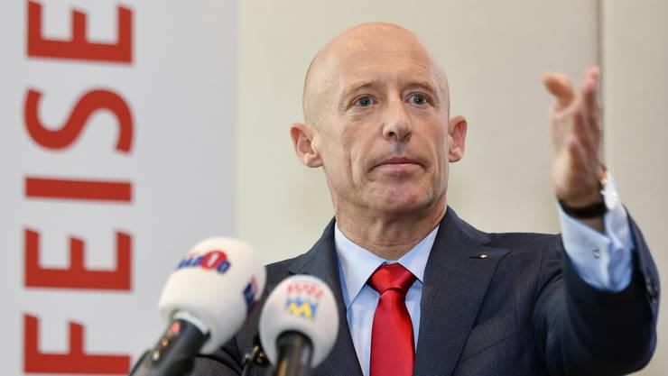Raiffeisen-Chef Patrik Gisel an der Medienkonferenz vom Freitag. Vierzehn Jahre lang war er Stellvertreter von Pierin Vincenz.