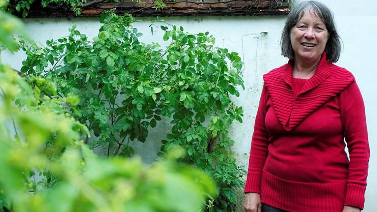 Katja Hugenschmidt engagiert sich für die grünen Flecken in Basel – etwa für diesen Kleinbasler Hinterhof. Kenneth Nars