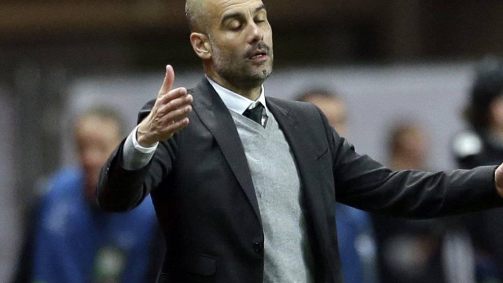 Ohnmächtig: Pep Guardiola erreicht seine Ziele mit Manchester City nicht