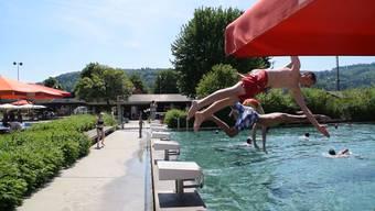 Die Badi Villmergen verwendet noch Chlorgas.