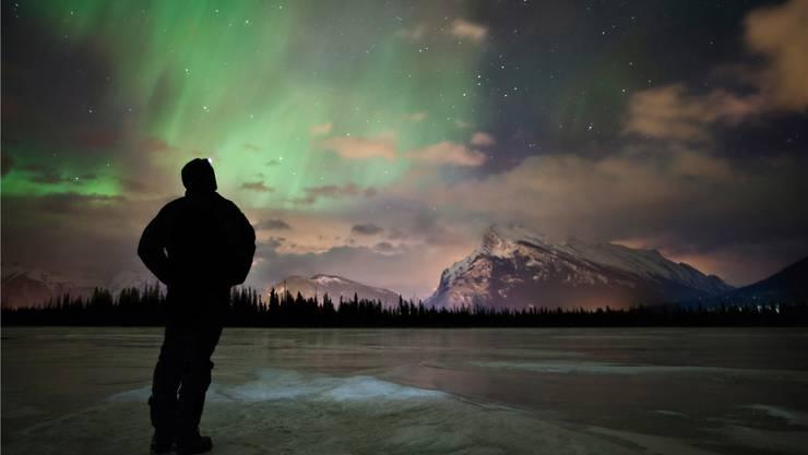 Mit viel Glück lassen sich manchmal Polarlichter beobachten.
