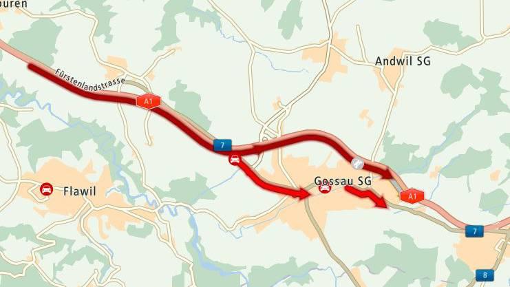 Auffahrunfall auf der A1 sorgte für Stau