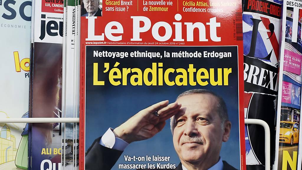 Die Titelseite der französischen Zeitschrift «Le Point», die den türkischen Präsidenten veranlasst hat, Anzeige wegen Präsidentenbeleidigung einzureichen.