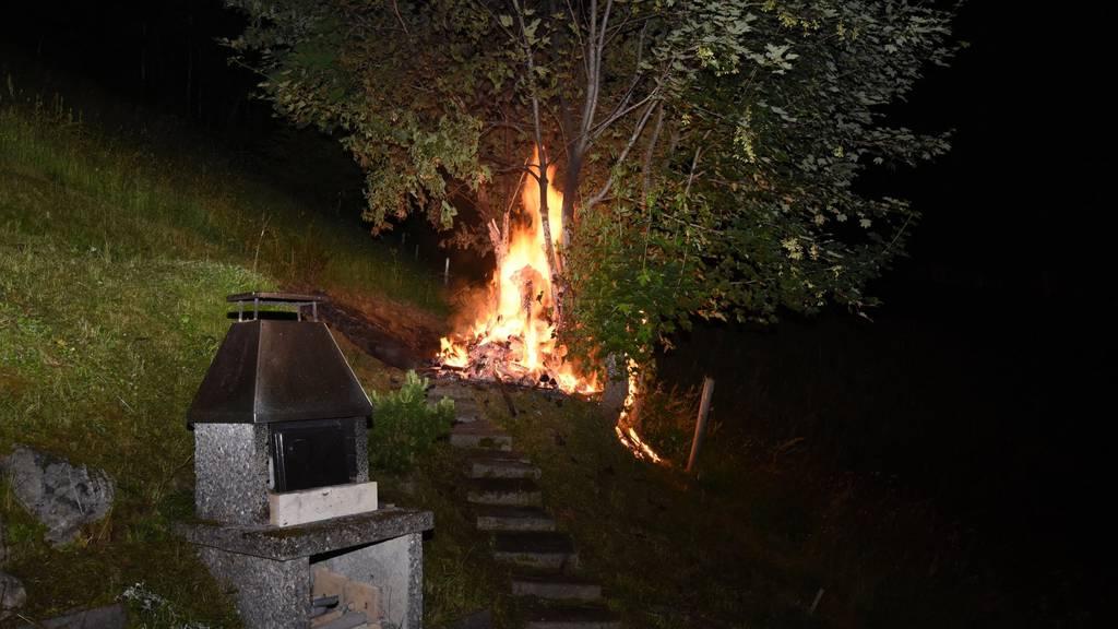 Bei dem Holzbrand wurde niemand verletzt.