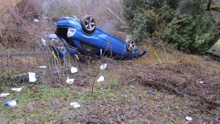 Der 21-jährige Fahrer kam unverletzt davon.