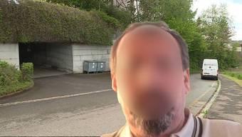 Vor dieser Garage wurde der 57-jährige Serbe erstochen.