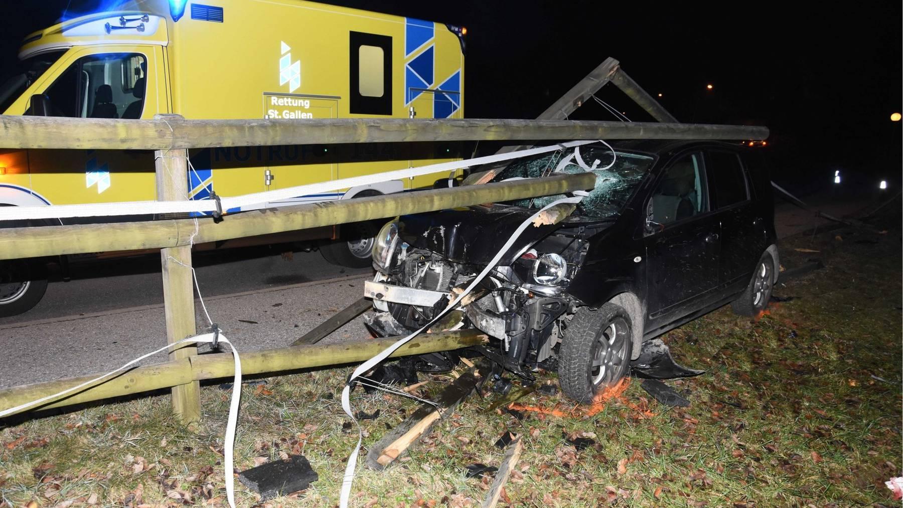Die Frau wurde beim Unfall schwer verletzt.
