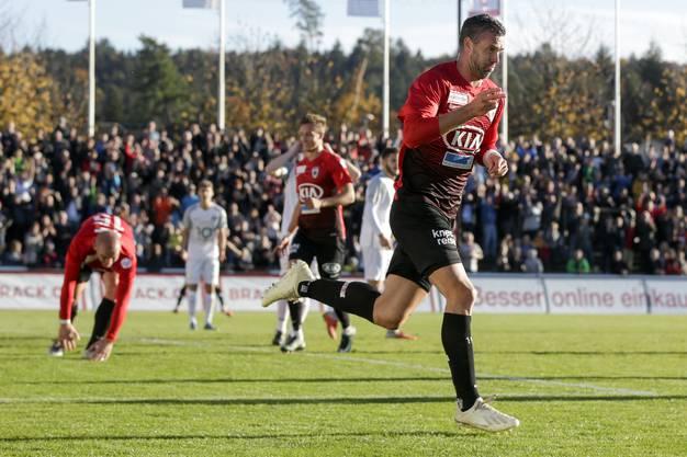 Aarau-Rapperswil 3:0 – Maierhofer trifft doppelt.