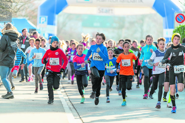 600 von 1500 Läufern waren Schülerinnen und Schüler.