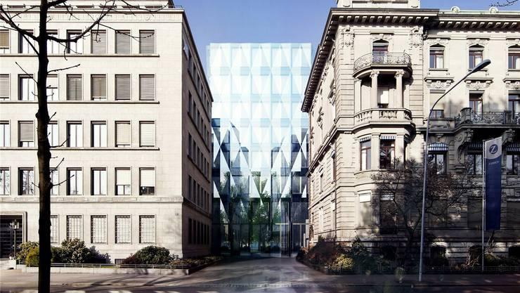 Der Konzernhauptsitz der Zürich-Versicherung am Zürcher Mythenquai wird grundlegend erneuert und ausgebaut. Der private Gestaltungsplan ist bewilligt.