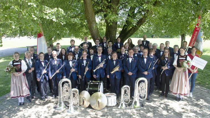 Die Stadtmusik Solothurn – auch nach 175 Jahren klangvoll und frisch. (Archivaufnahme 2019)