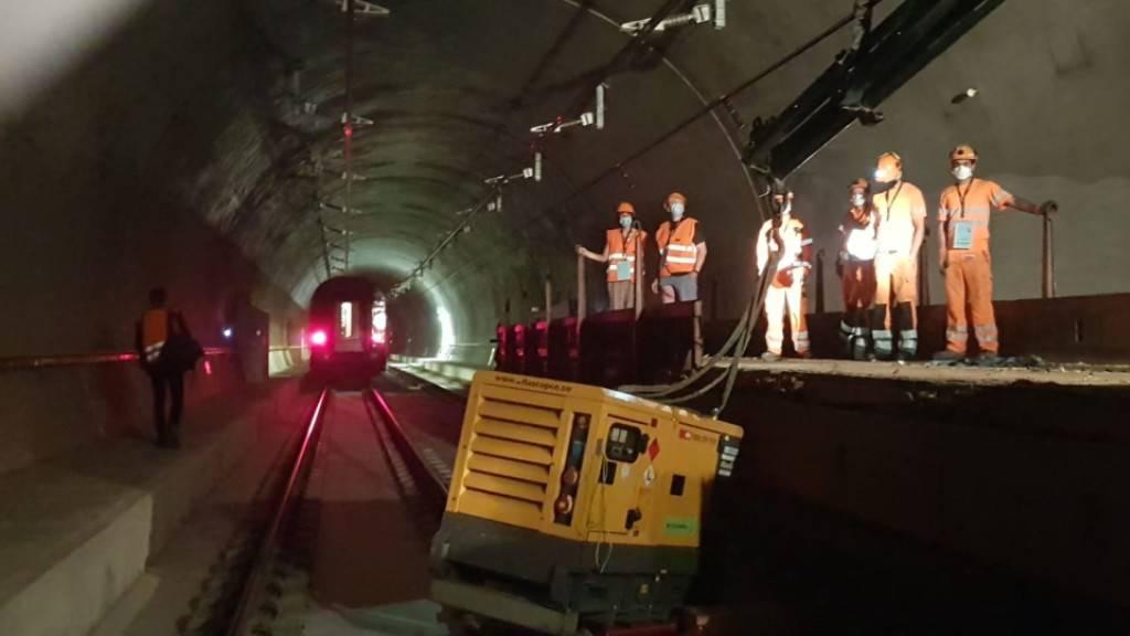 Rettungsübung im neuen SBB-Bözbergtunnel im Kanton Aargau